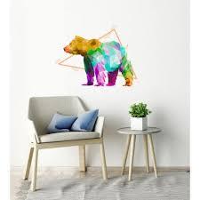 Shop Bear Decal Bear Sticker Bear Polygonal Wall Decal Polygon Modern Wall Art Overstock 31977861