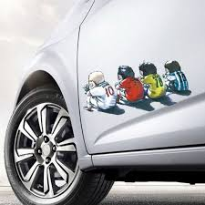Football Stars Messi Ronaldo Kaka Rooney Car Auto Motorcycle Decal Window Sticker Car Styling 23 11cm Wish