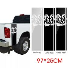 97 25cm Car Body Vinyl Decal Sticker Strips Emblem Bandage For 2pcs Dodge Ram 1500 5 7 L Car Stickers Aliexpress