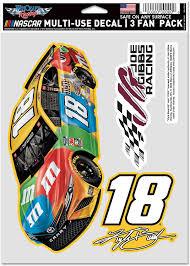 Amazon Com Wincraft Nascar Joe Gibbs Racing Kyle Busch Nascar Kyle Busch 18 5 5 X 7 75 Multi Use 3 Fan Pack Multi Na Sports Outdoors