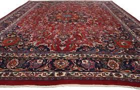 vintage persian mashhad area rug