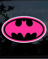 Batman Pink And Black Decal Sticker Midwest Sticker Shop