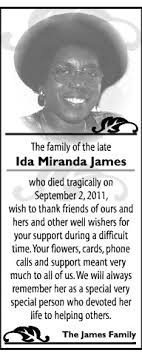 IDA JAMES Memoriam - Hamilton, Bermuda | The Royal Gazette