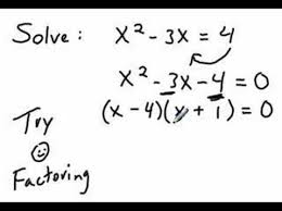 solving quadratic equations by