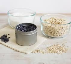 diy oatmeal and lavender bath soak