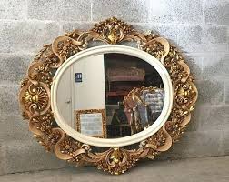 a cm baroque mirror white gloss lacquer