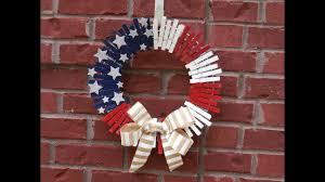 clothespin patriotic wreath tutorial