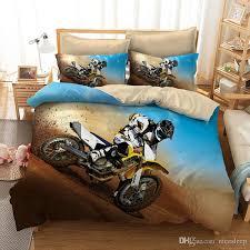 3d bedding set queen size motorcycle