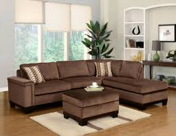 contemporary 2pc brown finish fabric