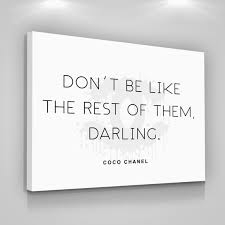 coco chanel quotes canvas print love yourself home wall decor