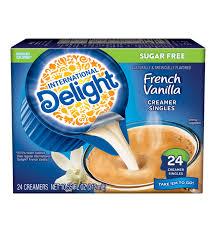 french vanilla coffee creamer singles