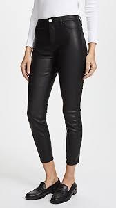 mid rise vegan leather skinny pants