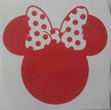 Minnie Mouse Vinyl Decal Disney Decal Disney Parks Decal Etsy Vinyl Decals Disney Decals Minnie