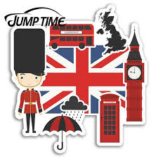 Jump Time London Uk England Flag Vinyl Stickers Sticker Luggage Travelwaterproof Car Decal Trunk Car Accessories Car Stickers Aliexpress