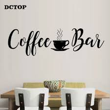 Coffee Bar Wall Stickers On Fridge Kitchen Dining Room Decals For Coffee Shop Store Vinyls Diy Wall Art Home Decorative Mural Buy At The Price Of 1 98 In Aliexpress Com Imall Com