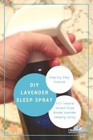 homemade lavender sleep spray