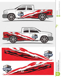 Tribal Red And Black Decal Graphics For Truck And Vehicles Stock Vector Illustration Of Ready Speed 107007304