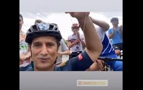 Alex Zanardi, il messaggio video poche ore prima dell'incidente