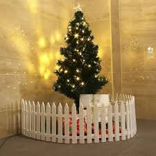 25 X White Plastic Picket Fence Miniature Garden Christmas Xmas Tree Decoration Ebay