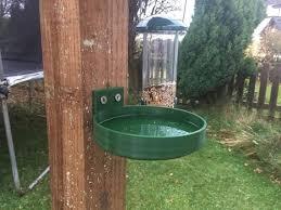 Birdbath Feeder Fence Or Post Mounted For Bird Table Bath Etsy In 2020 Bird Bath Hanging Bird Bath Diy Bird Bath