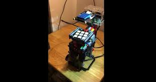 raspberry pi lego solve a rubiks cube