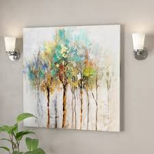 color me trees oil painting print