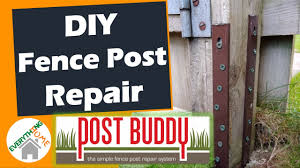 Fence Post Repair With Post Buddy 2020 Quick And Easy Diy Under 30 Minutes Cheap Any Post Youtube