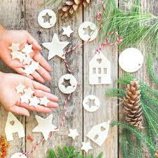 salt dough air dry clay ornaments