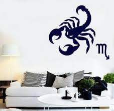 Vinyl Decal Wall Sticker Astrology Science Zodiac Sign Cancer N905 Ebay