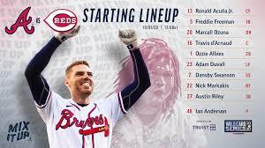 Braves vs Reds Game 2 Lineup 10/1 : Braves