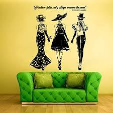 Amazon Com Stickersforlife Wall Decal Vinyl Sticker Decals Ladies Girls Coco Chanel Fashion Z1261 Home Kitchen