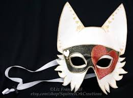 heart wolf costume animal mask mardi