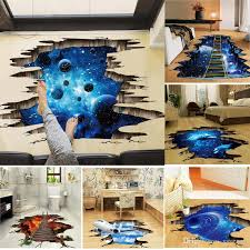 3d Outer Space Moon Stars Planet Wall Sticker Kid Baby Room Sky Smashed Decoration Cupboard Roof Floor Decal Art Stickers Mural Buy Decals Buy Wall Decal From Saveach 3 74 Dhgate Com