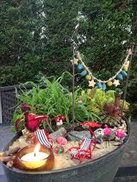 fairy gardens ideas beach themed