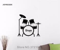 Joyreside Music Drum Wall Percussion Decal Vinyl Sticker Interior Art Home Kids Teen Living Room Bedroom Decor Decoration A104 Wall Stickers Aliexpress