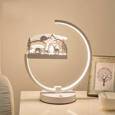 Animals Kids Room White Accent Table Lamp Beautifulhalo Com