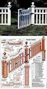 Build Picket Fence Outdoor Plans And Projects Woodarchivist Com Fence Design Outdoor Diy Projects Outdoor Projects