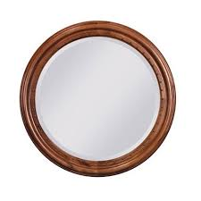 tuscano round mirror w nail head trim