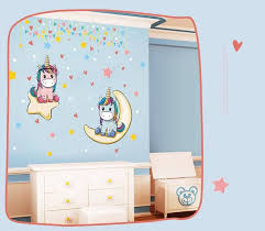 Cute Unicorn Wall Decals Home Decoration Removable Stickers