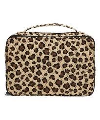 leopard large blush brush makeup case