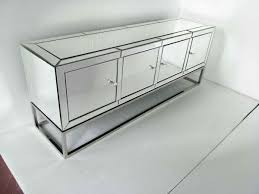 four doors mirrored tv stand