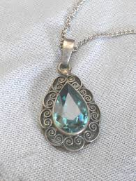 vintage sterling silver necklace with