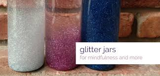 a glitter jar for mindfulness