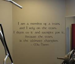 I Am A Member Of A Team Mia Hamm Beautiful Wall Decals