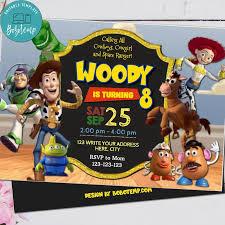 Archivo Digital De Invitacion De Fiesta De Cumpleanos De Toy Story