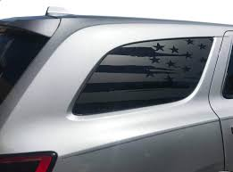Amazon Com Usa Flag Decals For Dodge Durango In Matte Black For Side Windows Fits 3rd Generation 2011 2020 Dd3a Handmade