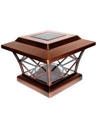 Solar Post Cap Lights Craftsman 4x4 Or 5x5 Copper Solar Post Cap