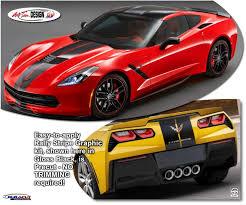 Corvette C7 Z06 Rally Stripes Graphics Kit 2014 2019 Atd Chvcrvtgrph158