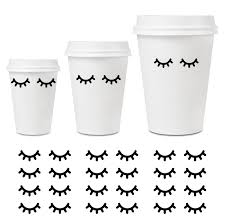 Sleepy Eyes Decal 40 Pairs Eyelashes Stickers Closed Eye Decals Home Party Decor Wine Champagne Glass Baby Nursery Party Cups Wine Glass Decor Party Cups Eye Stickers