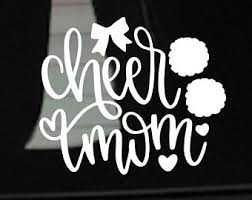 Cheer Car Decal Etsy